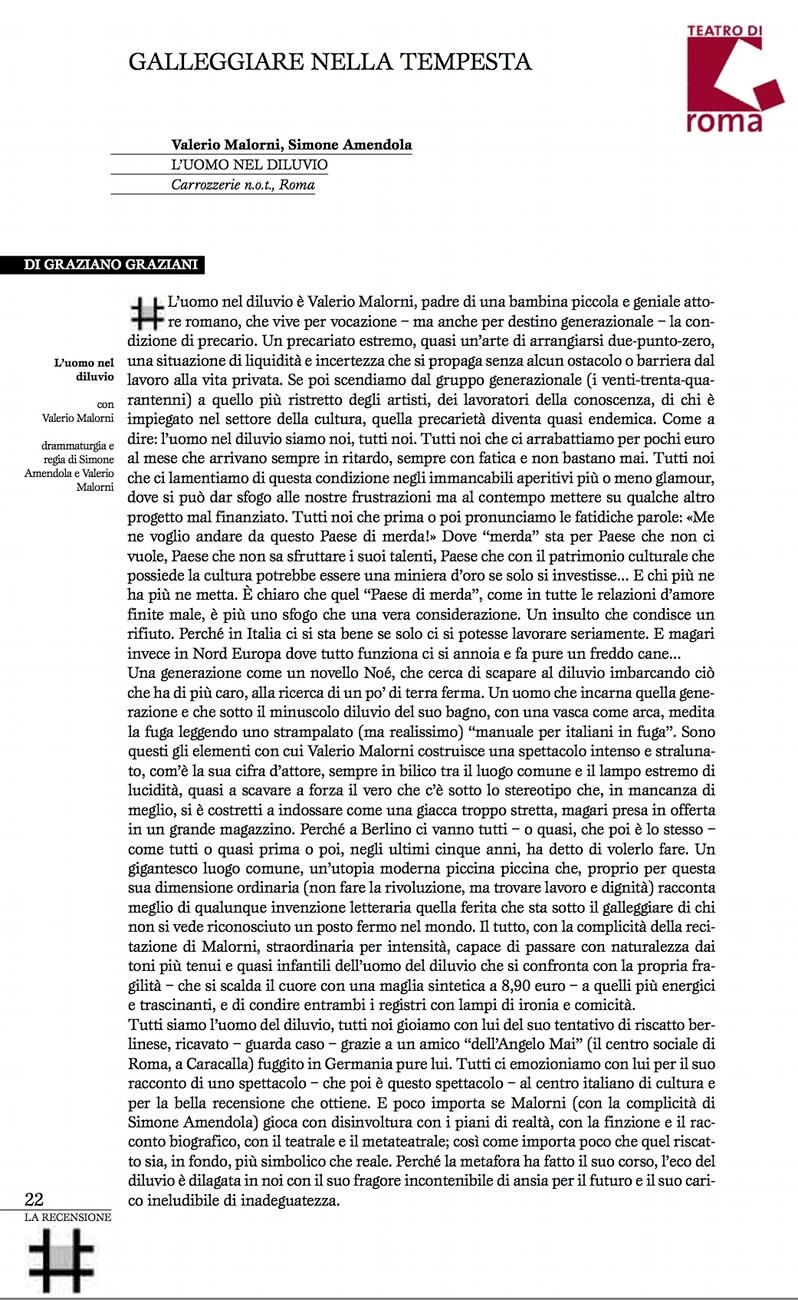 Quaderni teatro di Roma - Graziani