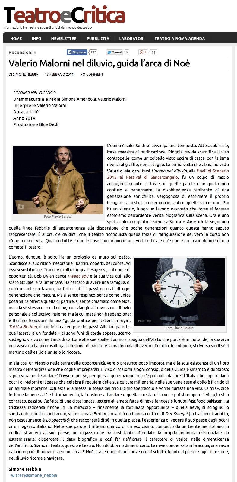 Teatro e Critica - Simone Nebbia