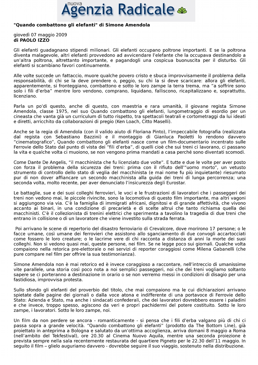 Agenzia Radicale - Paolo Izzo