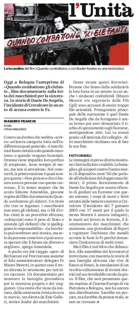 l'Unita - Massimo Franchi