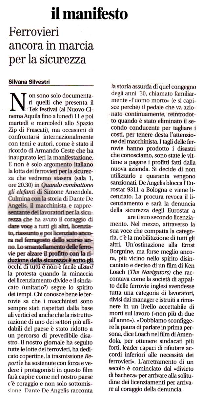Il Manifesto Silvana Silvestri