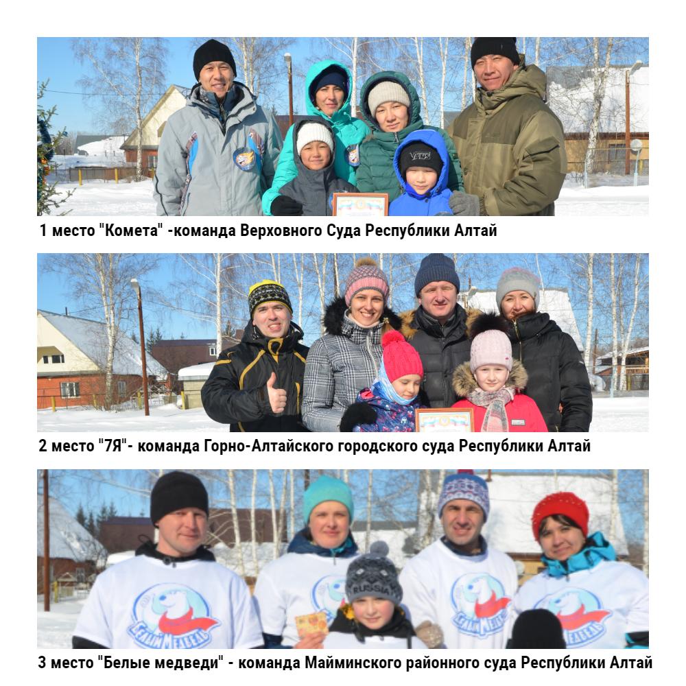 Команды-призеры Зимней Весёлки