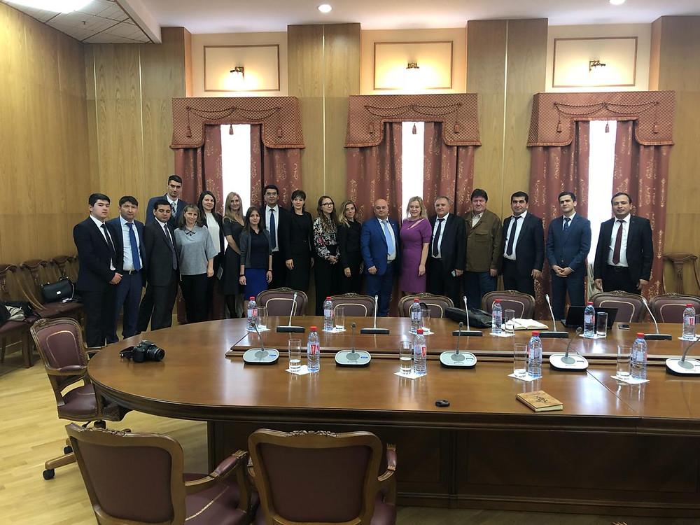 Встреча судей республики Таджикистан с коллегами из Санкт-Петербурга