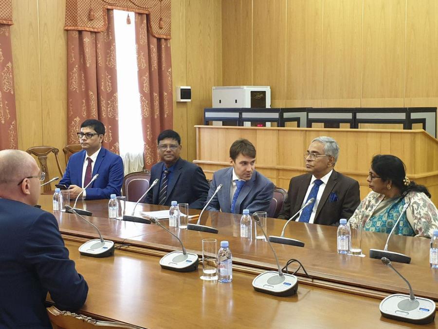 Делегация ВС Республики Бангладеш на переговорах в Санкт-Петербурге