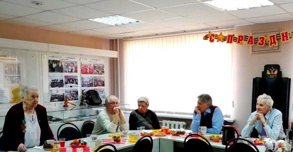 встреча ветеранов в музее на базе Калининского районного суда Челябинска