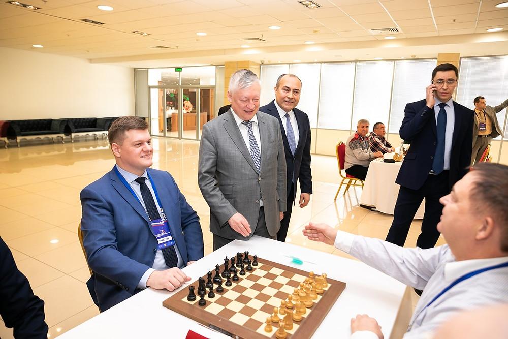 Почетные участники чемпионат по шахматам в Казани