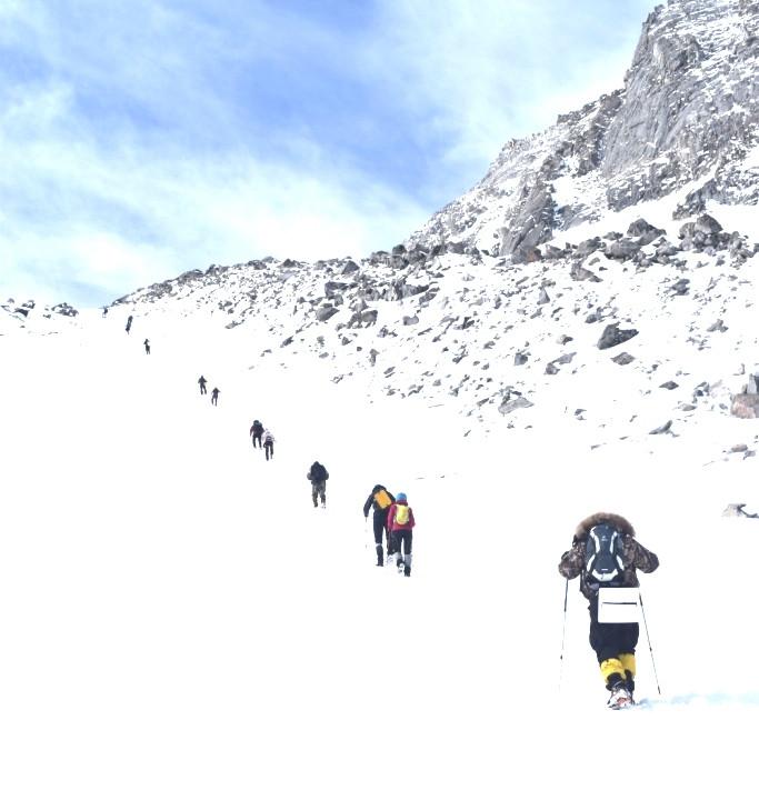 восхождение судей из РОС на гору Мунку-Сарды