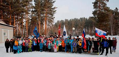 Построение участников Зимней спартакиады 2021