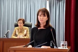С докладом выступает судья Горно-Алтайского городского суда Республики Алтай Шнайдер О. А.