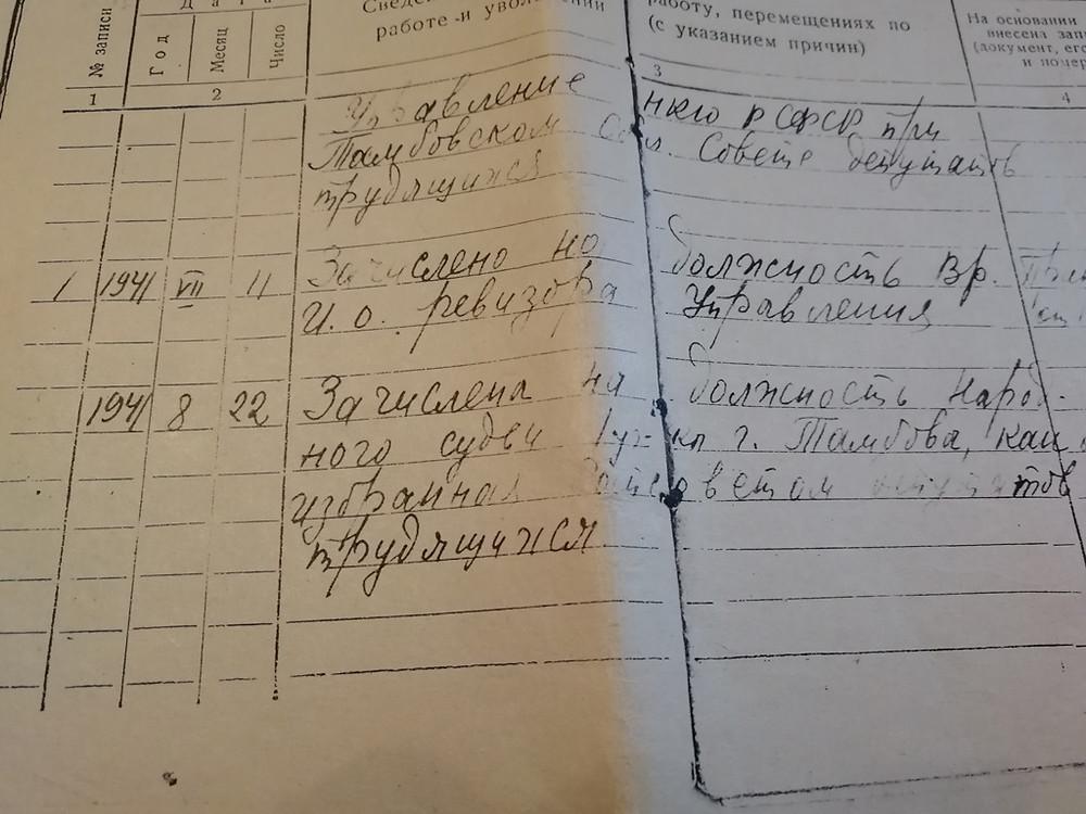 Трудовая Костиной В.К.