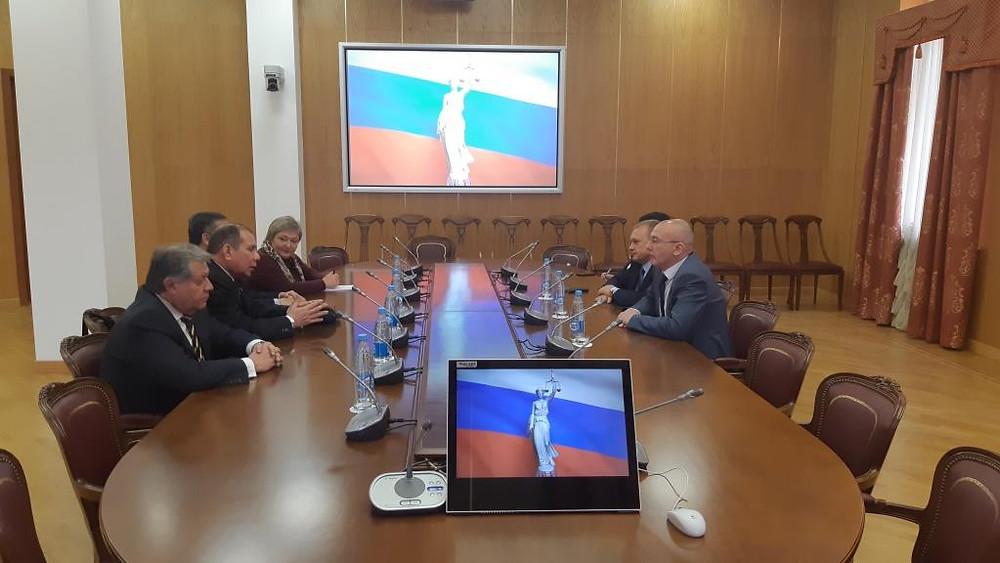 Встреча делегации Верховного СУда Республики Перу в  Санкт-Петербургском городском суде