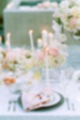 Свадебный декор в нежных белорозовых тонах