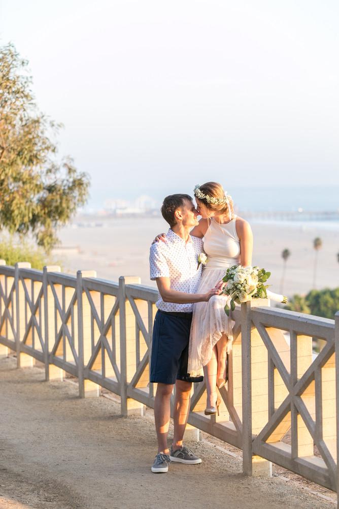 Свадьба на пляже Санта-Моника