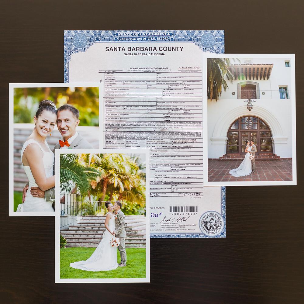 Свадебный Сертификат в США