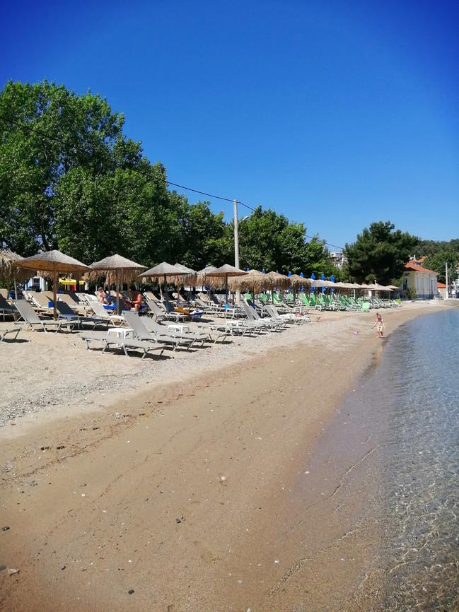 Village sandy beach