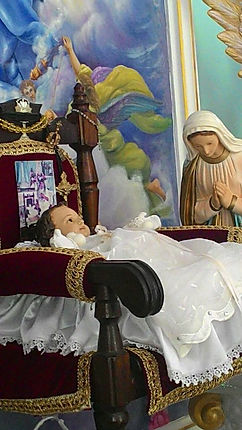 Imagem milagrosa do Menino Jesus Celeste.