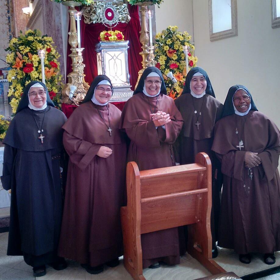 Carmelitas em visita ao Seminário.