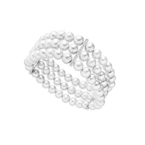 Triple Row Freshwater Cultured Pearl Bracelet