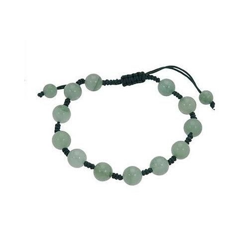 Adjustable Macrame Genuine Natural Jade Bracelet.