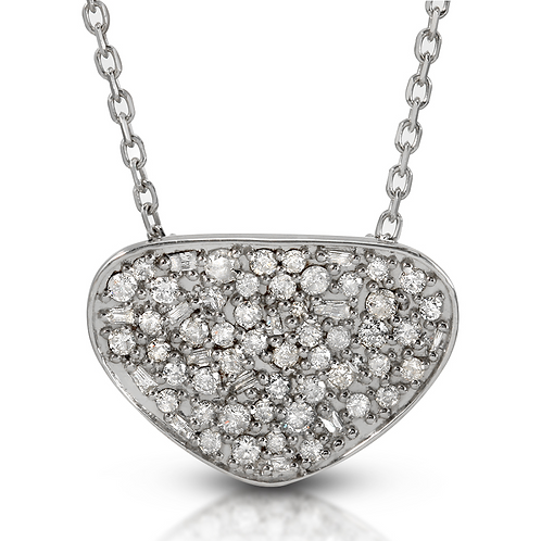 Regalia Mosaic Diamond Pendant in Rhodium Plated Sterling Silver