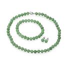 Genuine Green Jade 3pcs Jewelry Set, Nec
