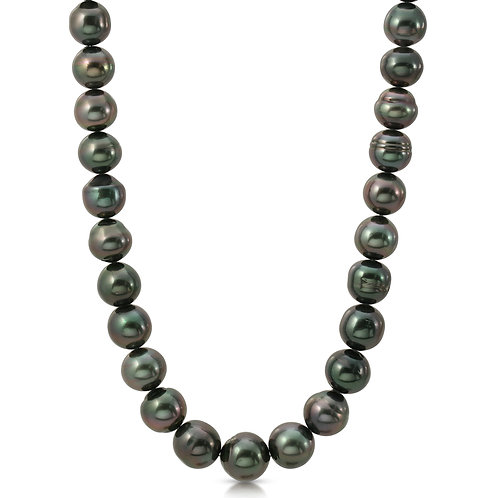 Oriente Pearls 12-14mm Tahitian South Sea Cultured Pearl Necklace 14K