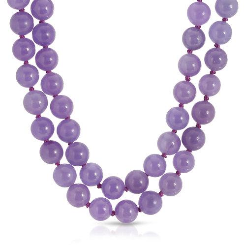 Regalia by Ulti Ramos 14K Yellow Gold Double Strand Genuine Jade Necklace