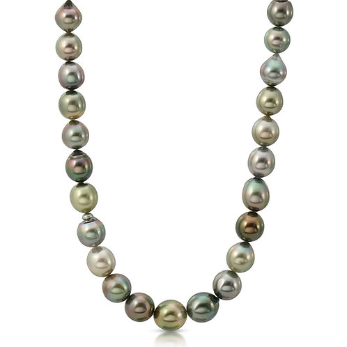 Oriente Pearls 11-13mm Tahitian South Sea Cultured Pearl Necklace 14K