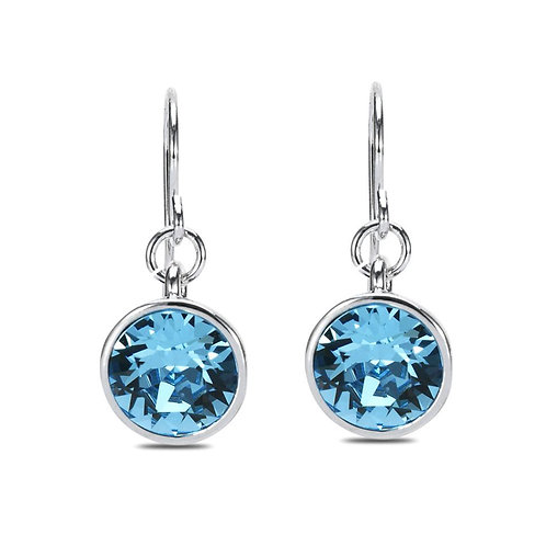 Austrian Crystal and Base Metal Dangle Hook Earrings