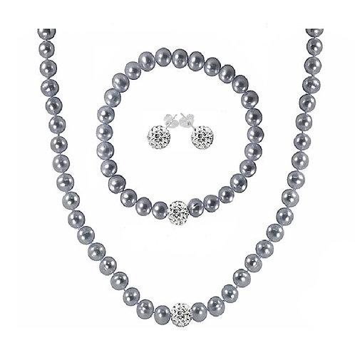 Regalia Gray Cultured Freshwater Pearl Jewelry Set