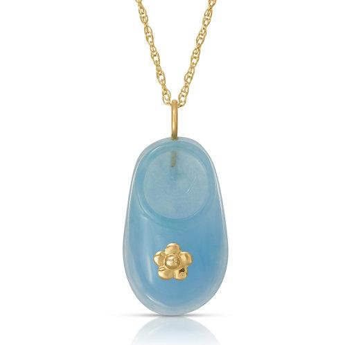 "Regalia by Ulti Ramos 14K Yellow Gold Baby Shoe Pendant Necklace 18"""