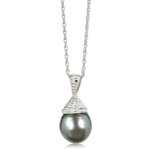 10mm Tahitian Pearl Pendant in Sterling Silver