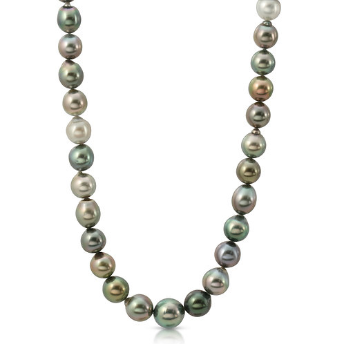 Oriente Pearls 10-12mm Tahitian South Sea Cultured Pearl Necklace 14K
