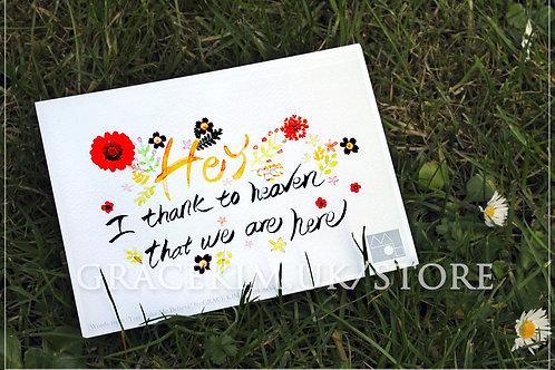 Lyrics Postcard - Hey I Thank To Heaven