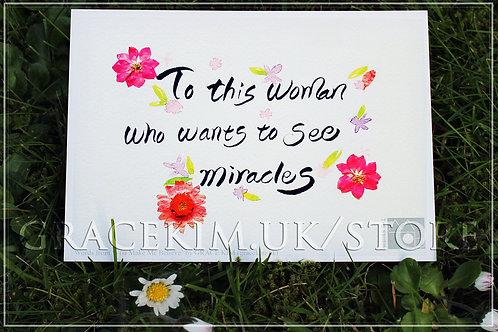 Lyrics Postcard - To This Woman (Pink)
