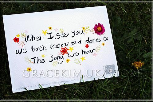 Lyrics Postcard - When I See You