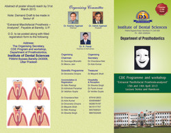 Extra-oral maxillofacial prosthesis : CD Programme