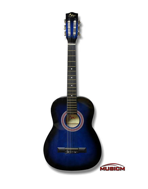 """36"""" Classical Guitar Blue Used"""