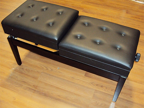 Double Adjustable Piano Bench with Book Storages Brand New