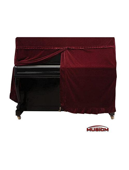 Upright Piano Cover Maroon