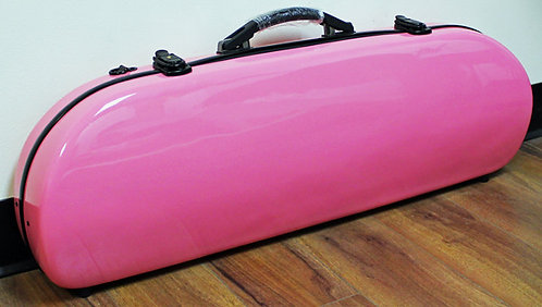 Fibre Glass Violin Case Pink