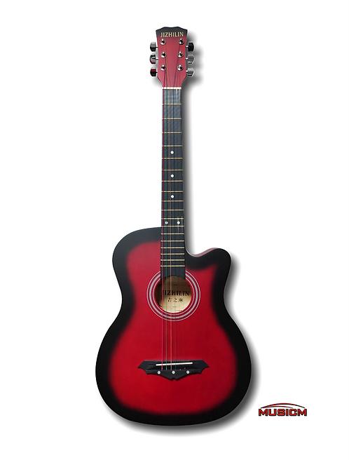 "38"" Acoustic Guitar JZ-38 Red burst"