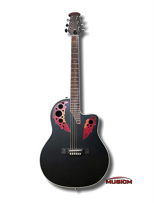 Roundback Acoustic Guitar Black