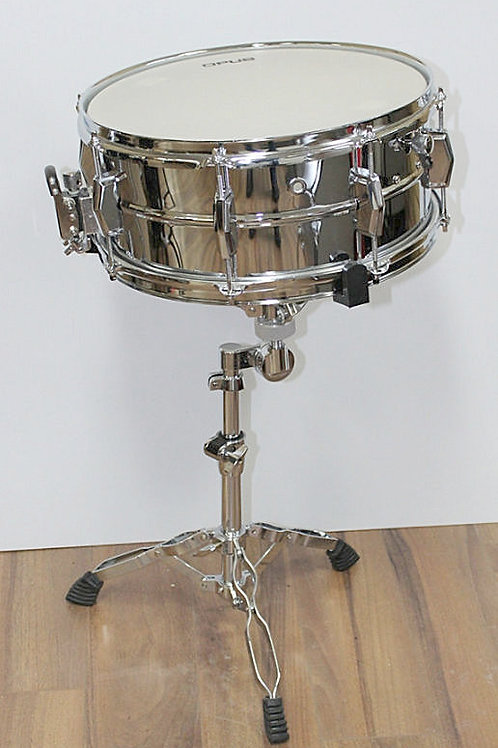 Snare Drum - 5.5x14 Nickel Plated + (Stand)