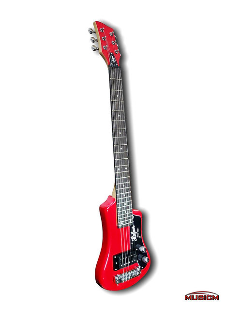 Portable Hofner Electric Guitar Red