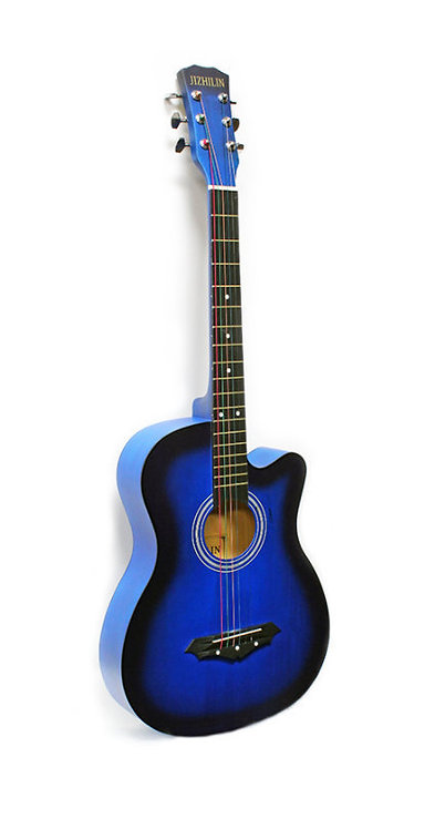 "Acoustic Guitar 38"" Blue"