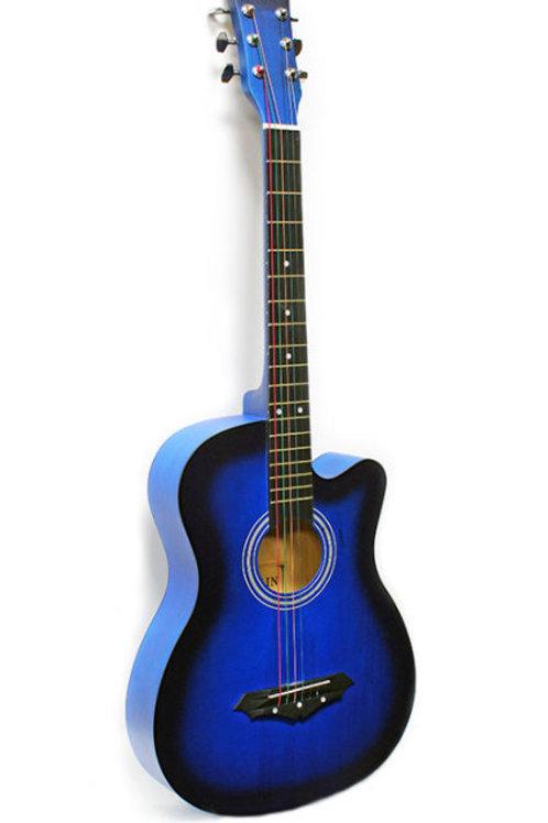 """Acoustic Guitar 38"""" Blue"""