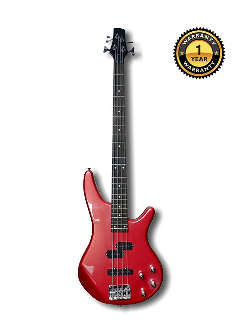 Electric Bass Guitar Red