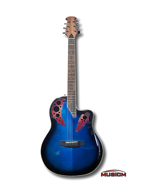 Roundback Acoustic Guitar Blue