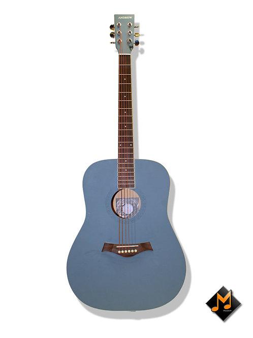 "Full Size Acoustic Guitar Grey/Blue 41"""